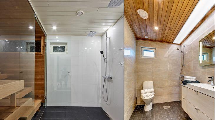Kylpyhuoneen LED-valonauhan kosteussuojaus ja profiilit