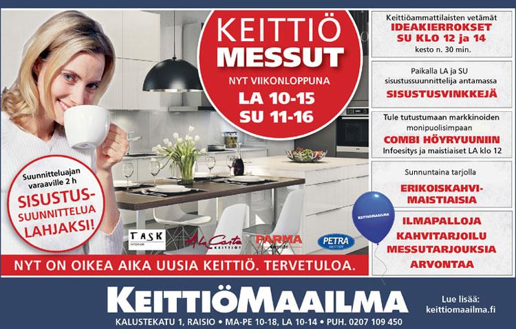 Uusimmat keittiötrendit ja suunnitteluvinkit!Tervetuloa Keittiömaailma Turkuu