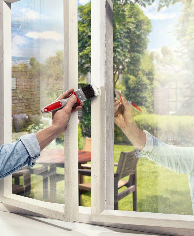 ikkunakarmien maalaus