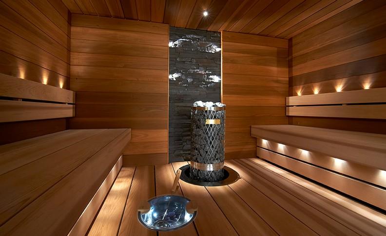 Tunnelmaa saunavalon avulla talveen