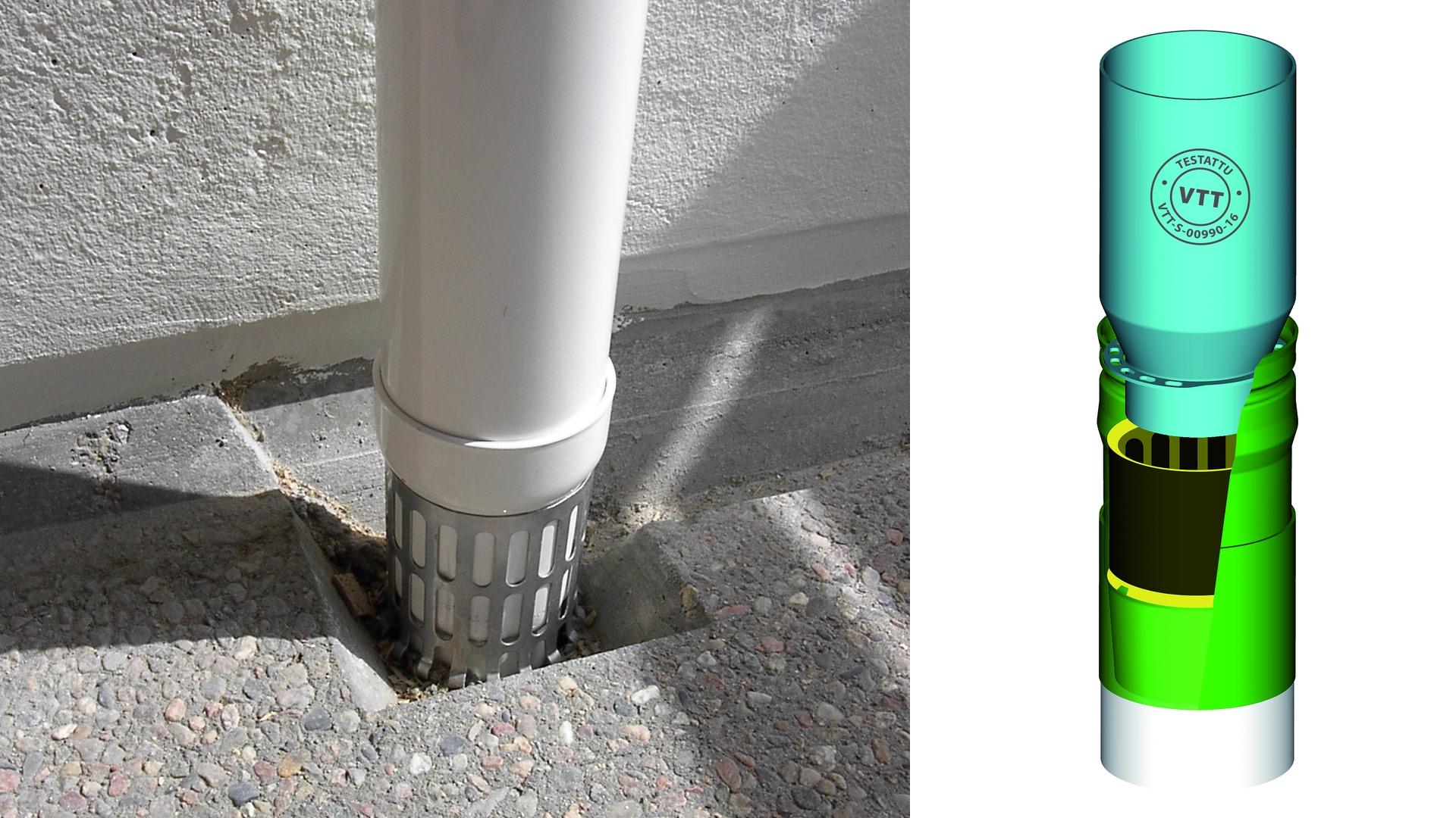 Parvekeputkea käytetään parvekkeen sisäpuolisen vedenpoiston rakentamiseen. Parvekeputkella kerätään parvekkeiden vedet samaan järjestelmään ja ohjataan vedet hallitusti alas. Putkena käytetään yleisimmin polttomaalattua alumiinia tai RST-putkea.