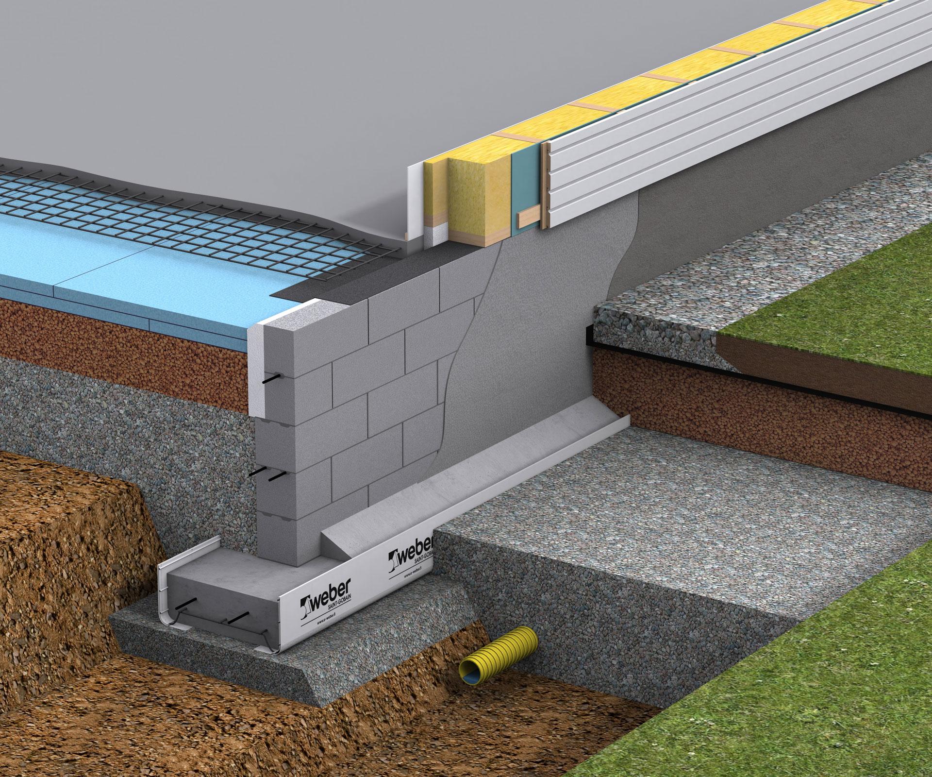 Leca-harkkoperustus RUH-200 maanvaraisella alapohjalla ja puurungolla