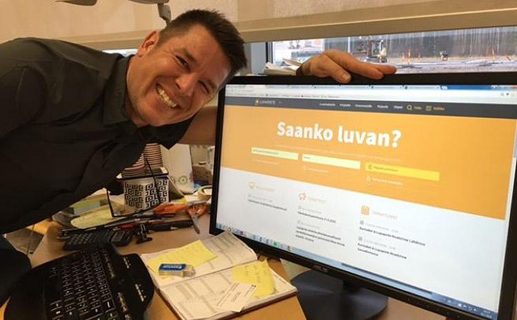 Suunnittelija Janne Palmqvist on käyttänyt Lupapistettä jo yli sadassa hankkeessa ja iloitsee palvelun tuomasta ajansäästöstä.