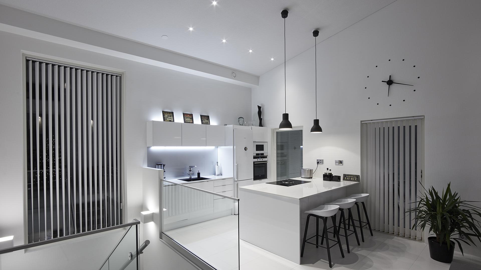 Valaistus keittiössä