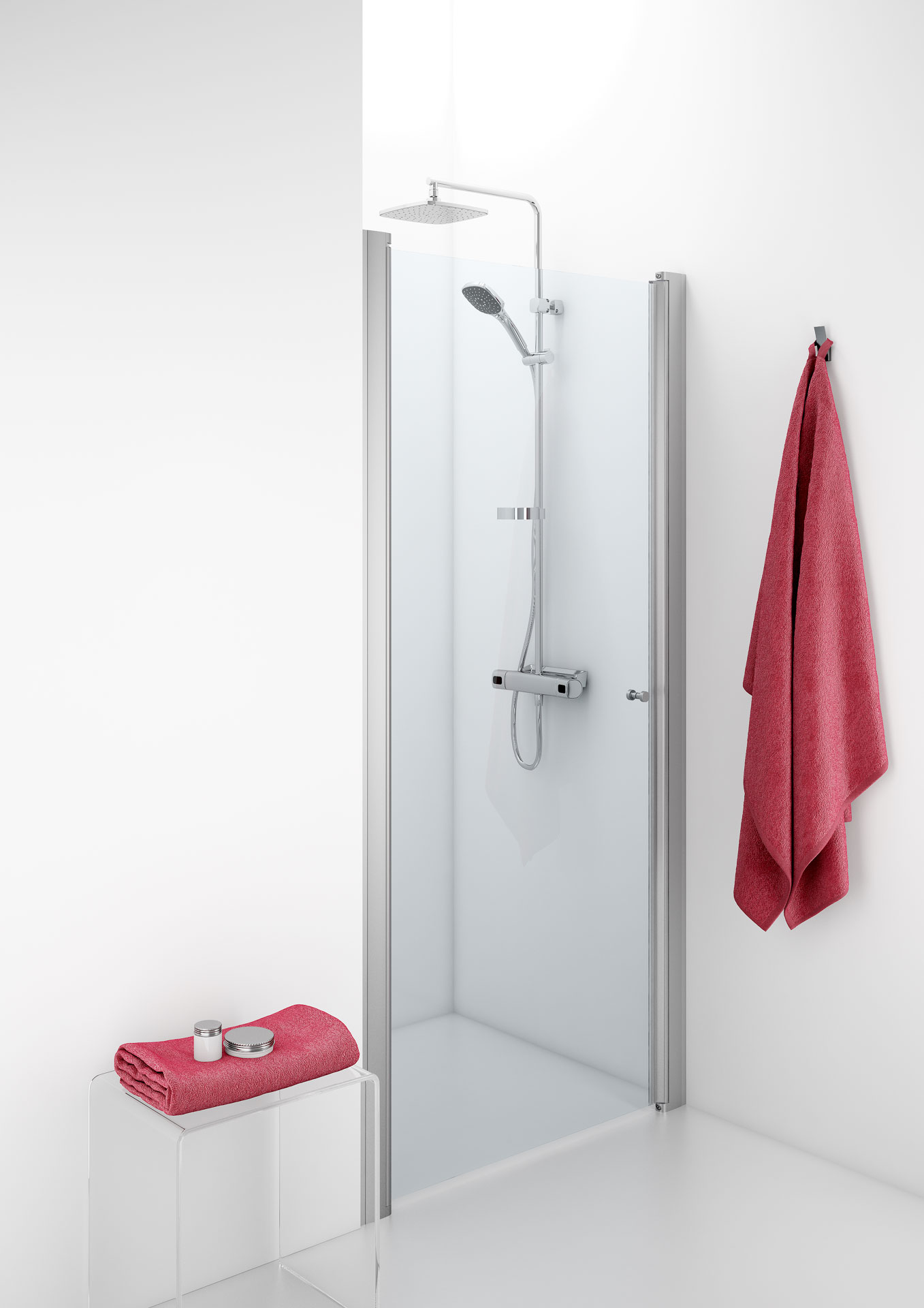 IDO Showerama 10-0-suihkuovi aukeaa joko sisään- tai ulospäin.