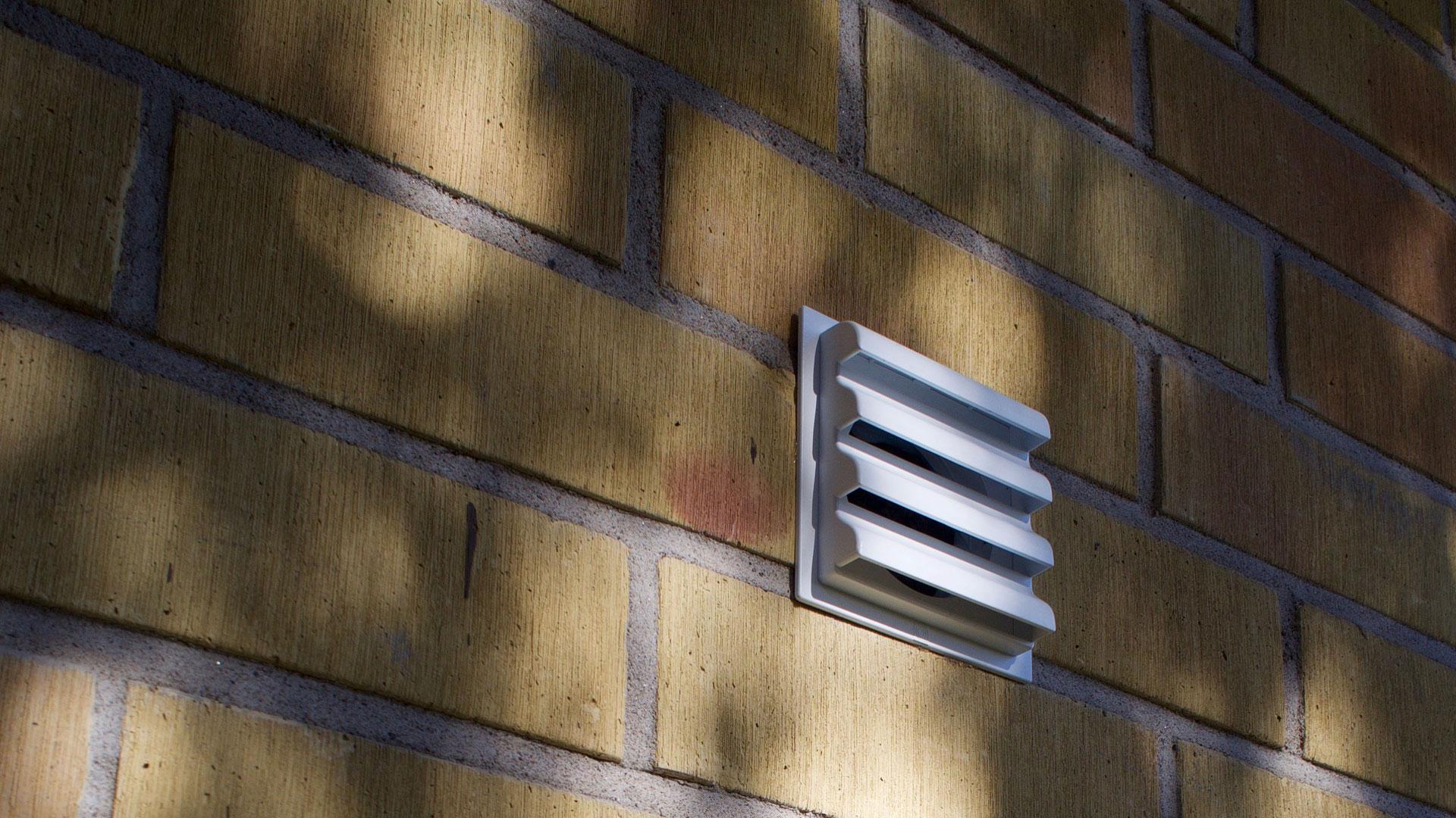 Asunnon hallittu ilmanvaihto tapahtuu venttiilien kautta.