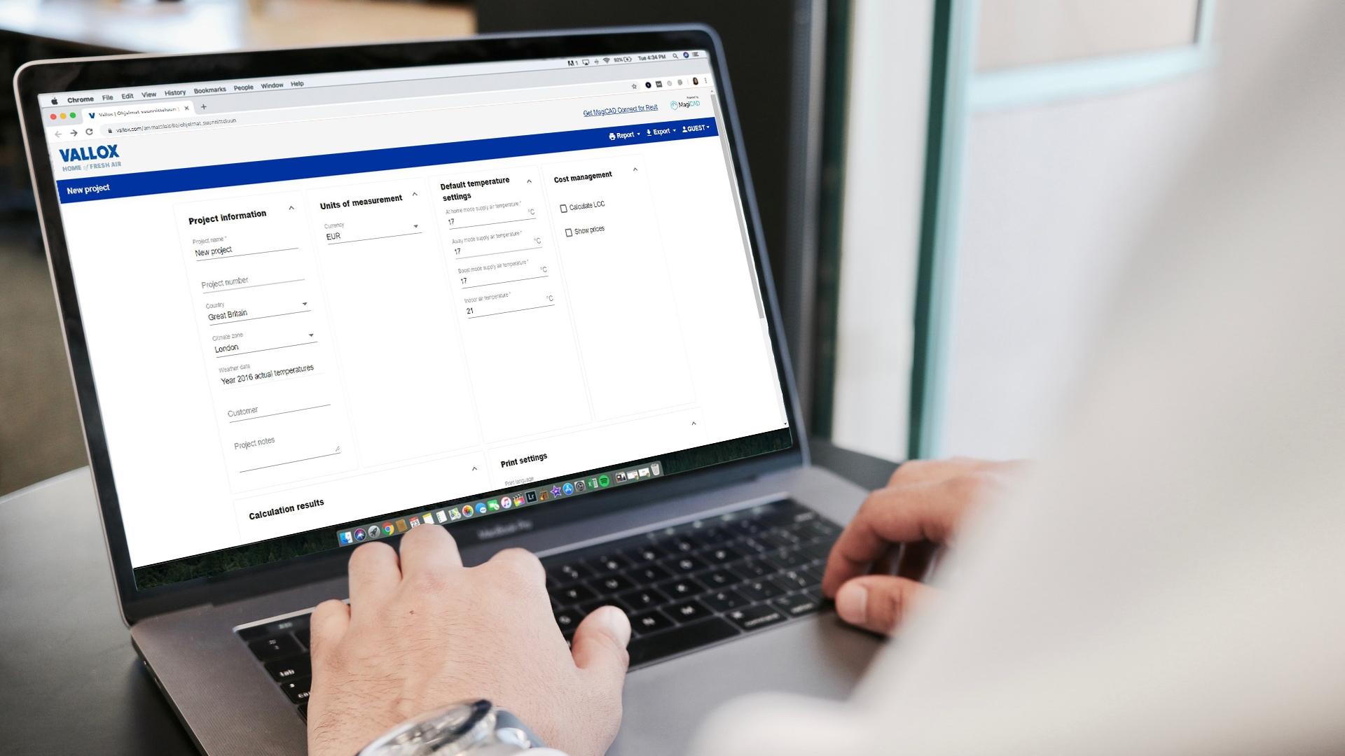 Vallox MySelecta -tuotevalintaohjelma helpottaa valitsemaan sopivan ilmanvaihtokoneen.