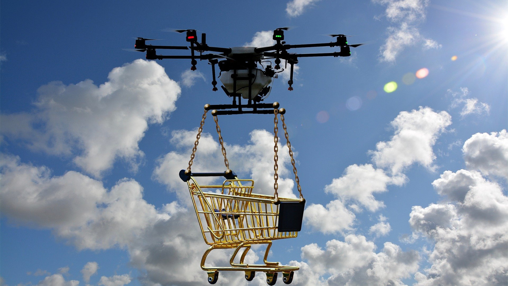 Tulevaisuudessa droneja voidaan mahdollisesti käyttää ostoksien kotiinkuljettamisen lisäksi myös rakennustyömailla materiaalien kuljetukseen