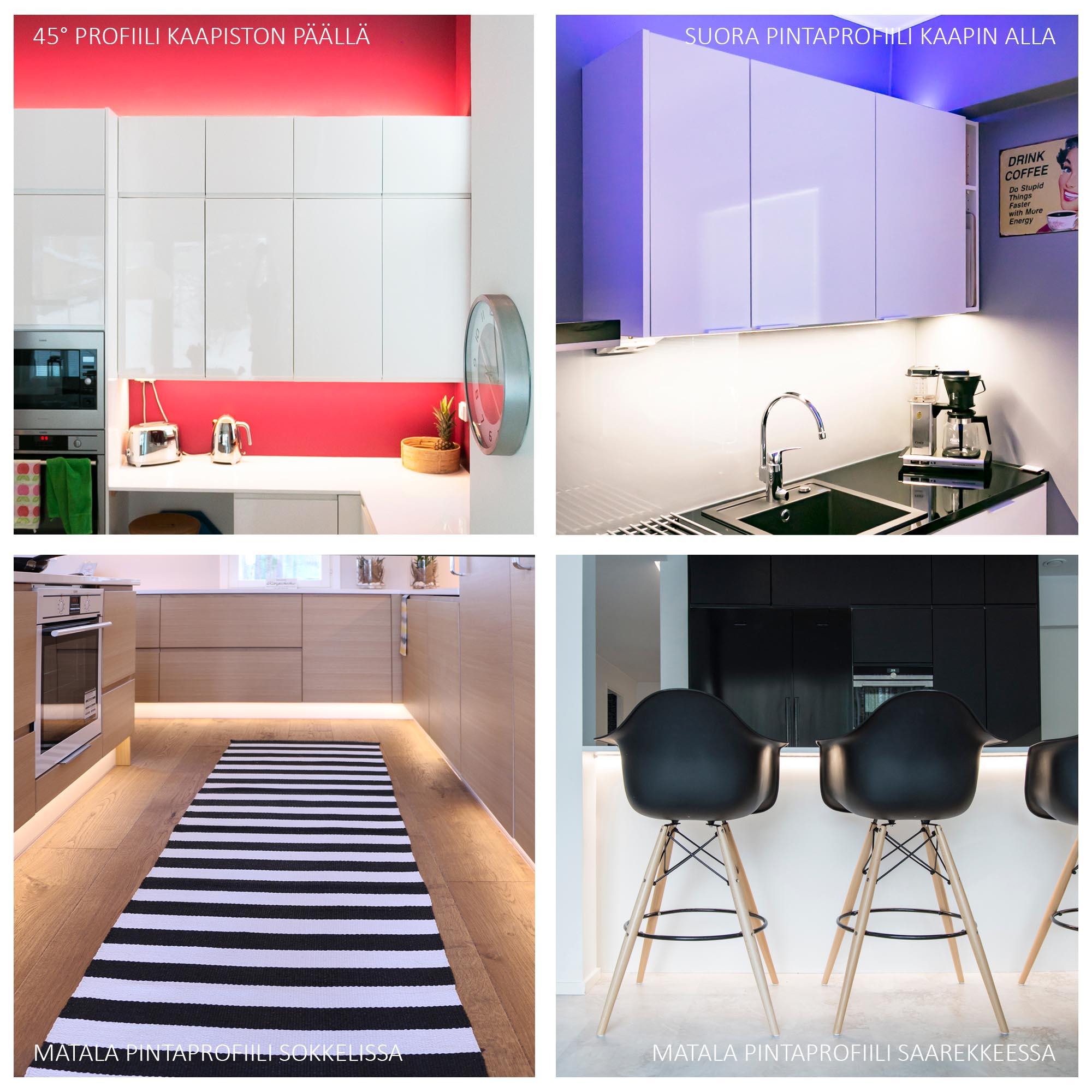 Led-nauhoja voidaan hyödyntää kodin eri huoneissa.