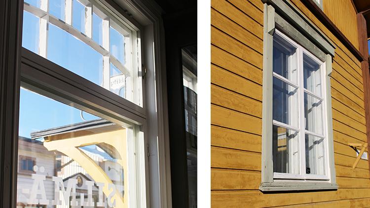 Ikkunan sisäpuoleinen lämpölas lisää energiatehokkuuta, eikä turmele vanhan rakennuksen autenttisuutta.