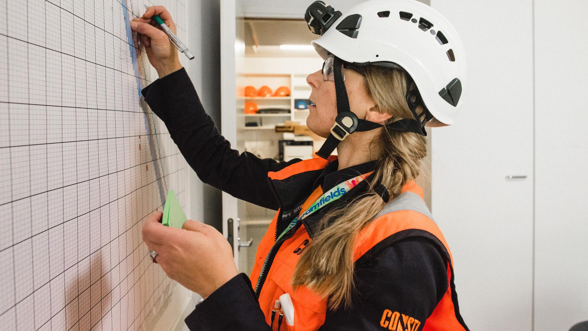 Työnjohdolla on tärkeä rooli tahtituotannon päivittäisessä hallinnassa. (Kuva: Consti)