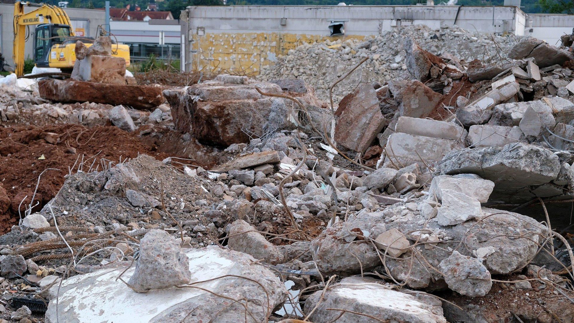 Betoni on monikäyttöinen materiaali rakennuksen purun jälkeenkin