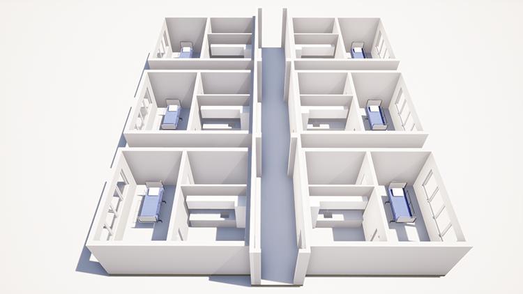 Aulis Lindell Oy:n moduleita on helppo yhdistää kokonaisuuksiksi, joista voi helposti jälkeenpäin lisätä tai poistaa moduuleita tarpeen vaatiessa.