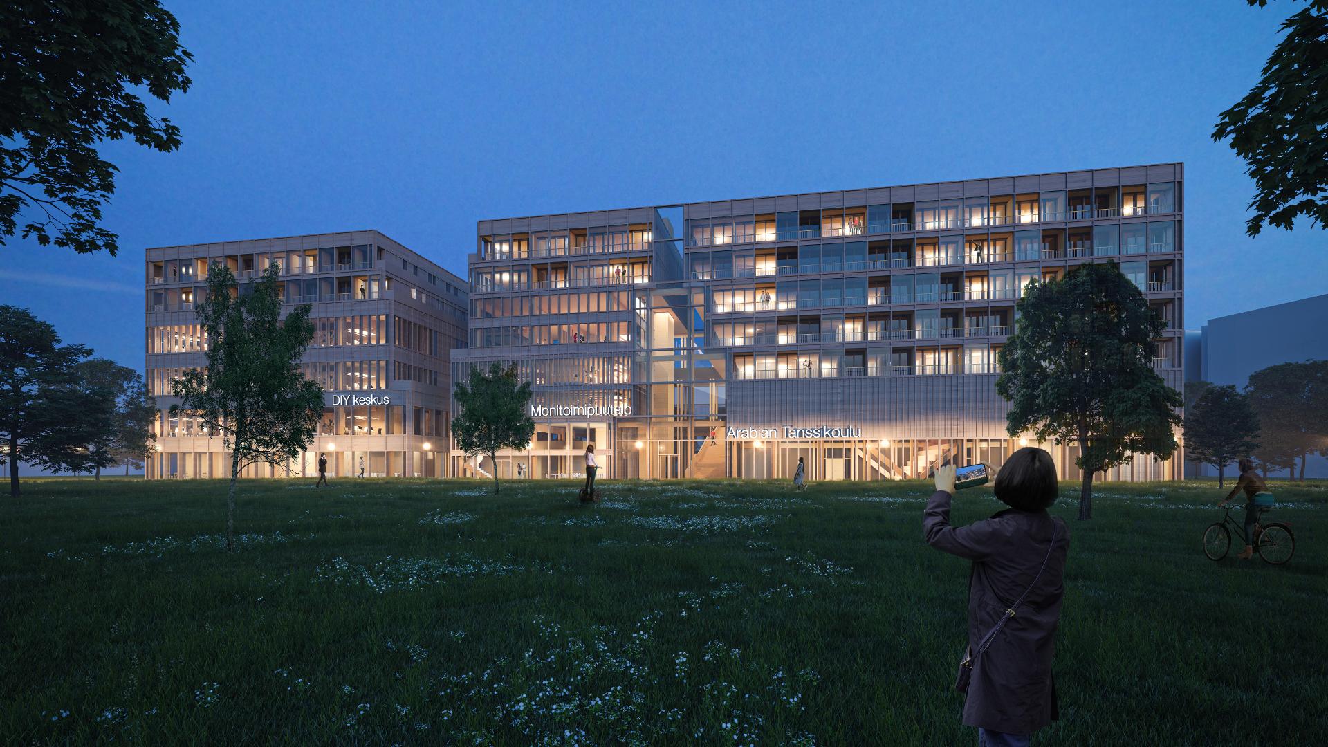 """Urban Adaptation -arkkitehtikilpailun voittaja """"S M L XL"""", jonka takana ovat Francesco Allaix ja Julio Orduña"""