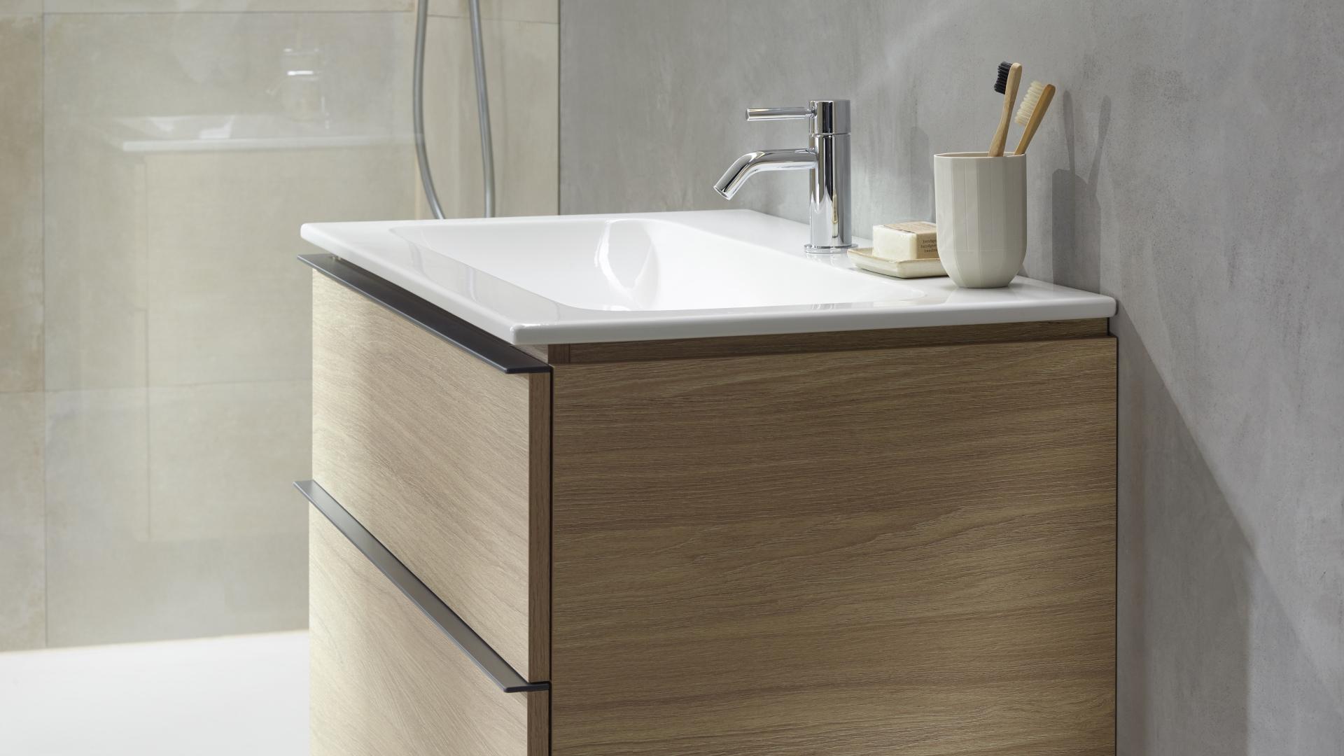 Geberit iCon -sarjan modulaarisuus tekee siitä sopivan hyvin monenlaisiin kylpyhuoneisiin tilan muodosta ja koosta riippumatta.