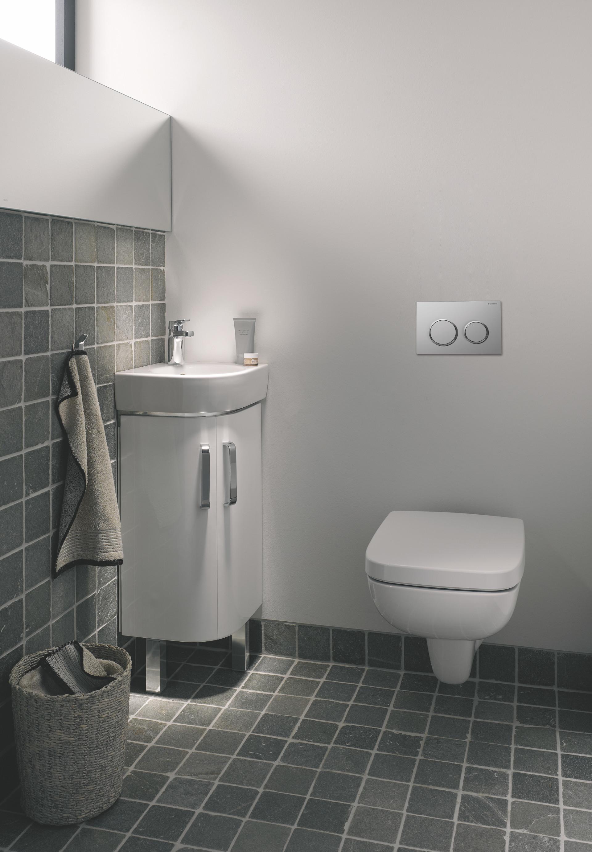 Renova Compact tarjoaa myös kulmaan sopivia allas- ja kalusteratkaisuja.