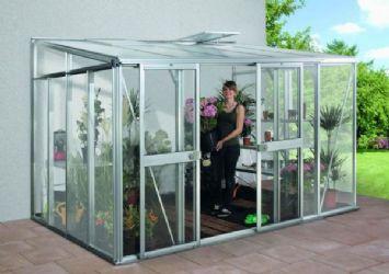 Helena-seinusta kasvihuone 11,9 m2, alum.runko+lasit+kenno UUTTA!