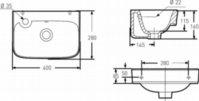 IDO GLOW 400x280x160, hanareikä vasemmalla