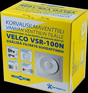 Korvausilmaventtiili Velco VSR-100N vanhan venttiilin tilalle