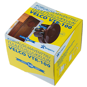 Korvausilmaventtiili Velco VTR-100R puiseen tuuletusluukkuun, ruskea