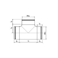 UPONOR VENTILATION T-KAPPALE 125/125X90°