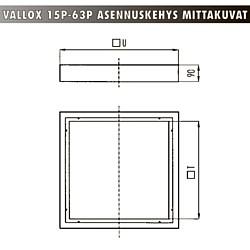 Vallox Asennuskehys 15p