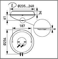 Ensto PIR tunnistinvalaisin magneettisella kuristimella