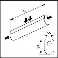 Ensto PerusJono-valaisin 600 mm elektronisella liitäntälaitteella