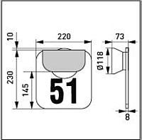 NUMEROVALAISIN AVR51 LED 1W AC IP65 MUSTA