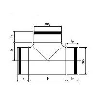 UPONOR VENTILATION T-KAPPALE 160/100X90°