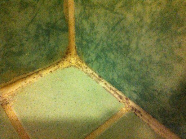 Kylpyhuoneen silikonisaumat homeessa