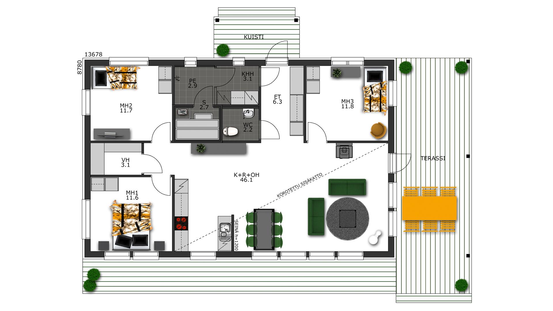 Design-Talo Sulkava 120