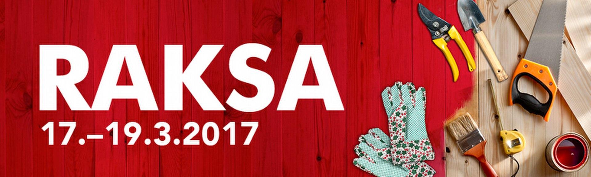 RAKSA 2017<br/> Lahden Messukeskuksessa <br/>17.-19.3.2017