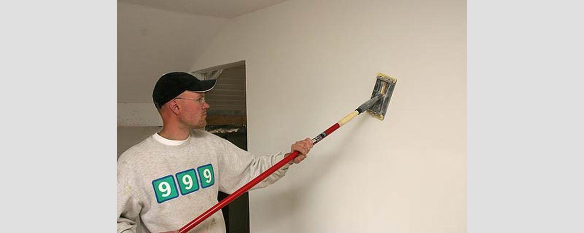 Seinien hionta ennen maalausta