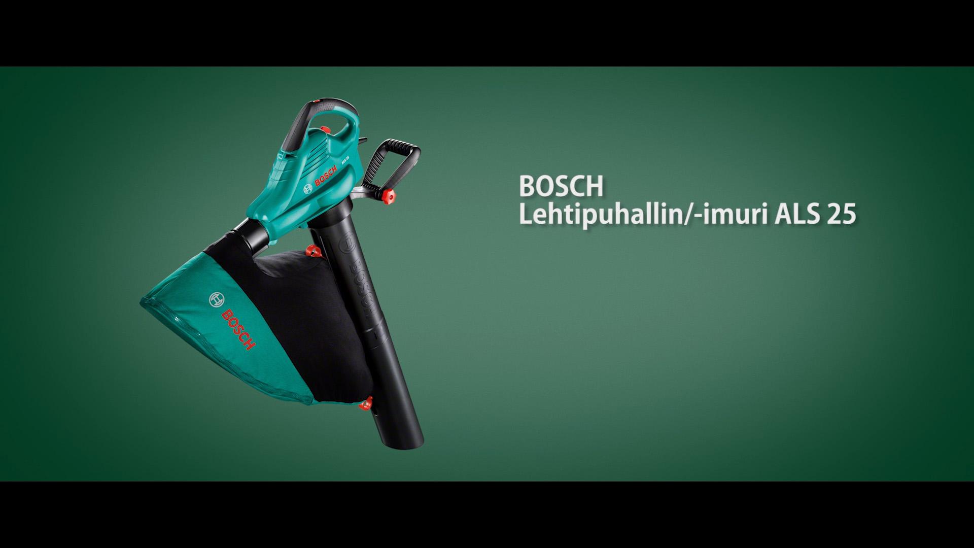 Boschin puutarhaimuri/-puhallin ALS 25 on tehokas apu puutarhassa.