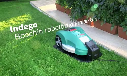 Indego huoltaa nurmikon puolestasi.